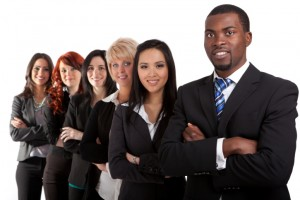 123467164 confident Multi ethnic business team